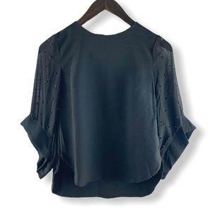 Joy Miss Black Pearl Embellished Blouse Size 4